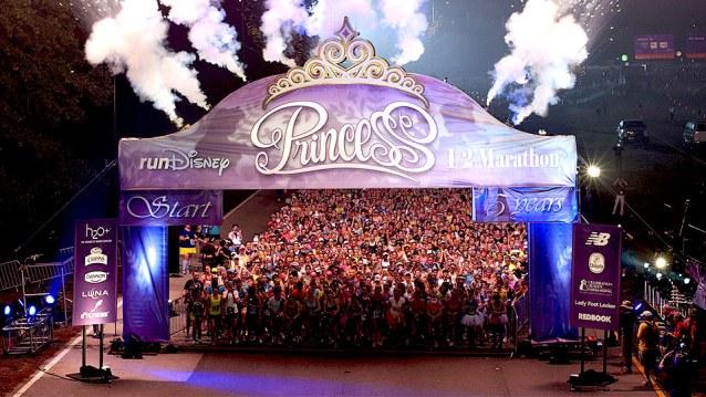 Princess Half start line