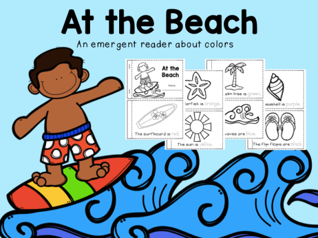 At the Beach Emergent Reader About Colors