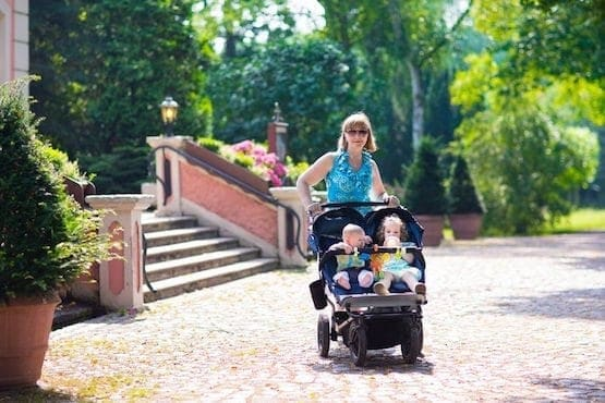 30779464 - woman with a double stroller