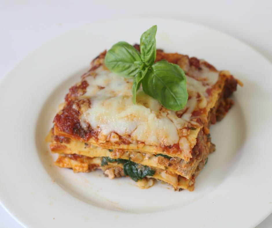 One Skillet Low-Fat Lasagne
