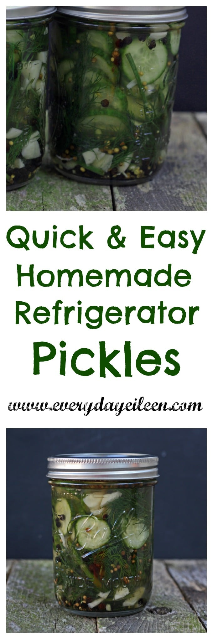 quick& easy homemade pickles