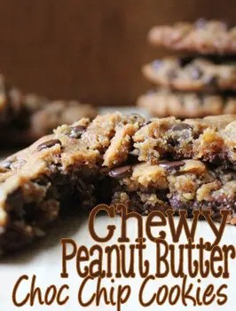 Chewy Peanut Butter Chocolate Chip Cookies - Everday Made Fresh