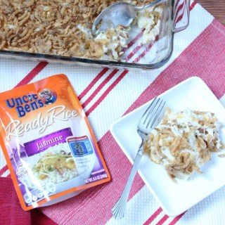 French Onion Chicken and Rice Bake is made with simple shortcuts to have dinner on the table in no time.