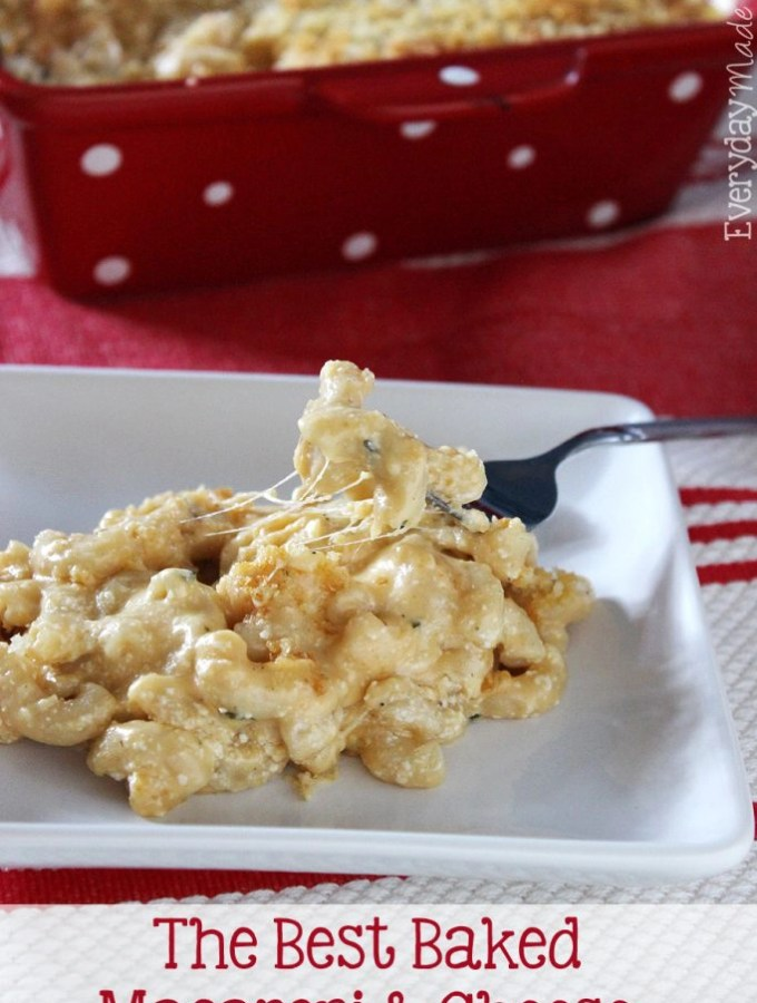 The Best Baked Macaroni and Cheese is creamy, cheesy, and the perfect addition to your table!   EverydayMadeFresh.com