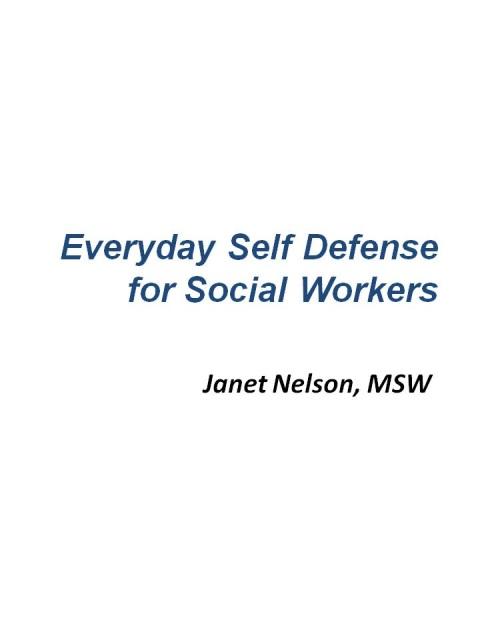 Everyday Self Defense Training Manuals - training manual