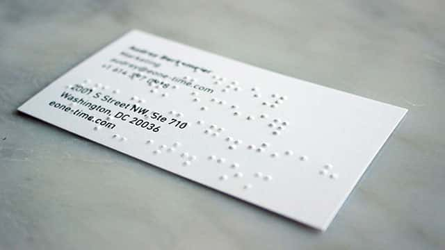Best Braille Business Cards (and Where to Get Them) - Everyday Sight