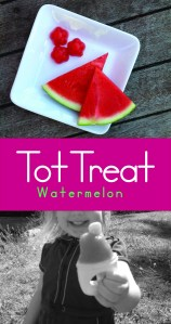 Tot treat – Watermelon popsicles