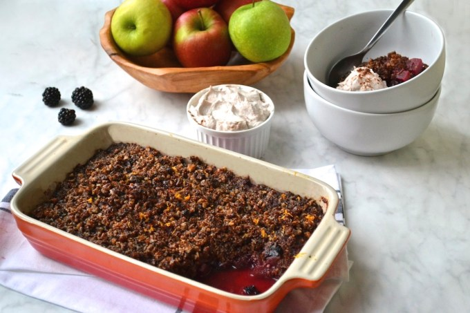 Apple & Blackberry Crumble