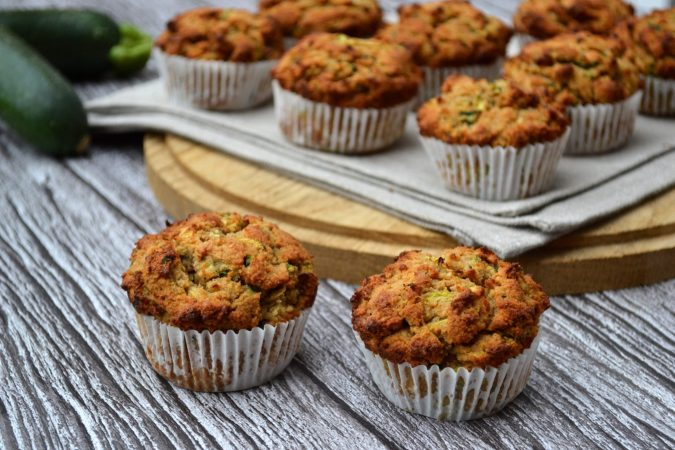 Peanut Butter & Zucchini Muffins