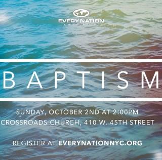 Water Baptism, October 2nd