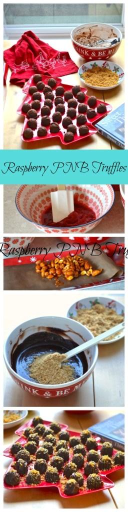 Raspberry PNB Truffles