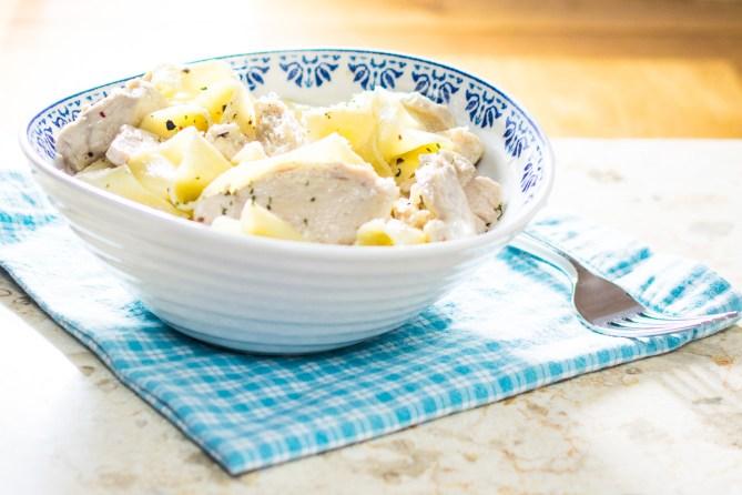 Creamy Parmesan Chicken Pappardelle - Every Nook & Cranny