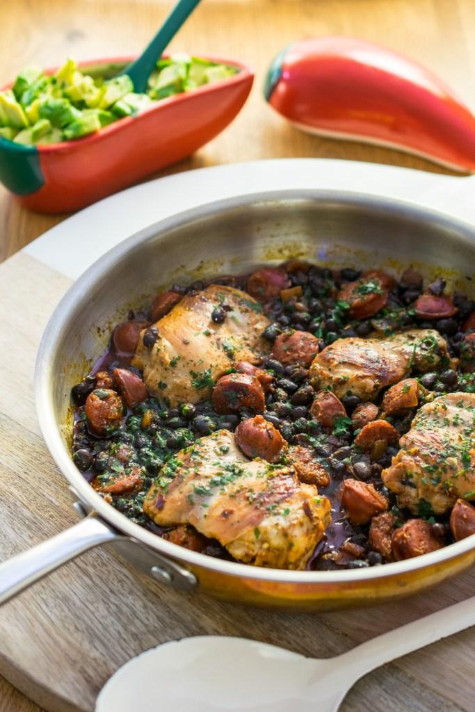 Piri Piri Chicken & Chorizo with Black Beans-4