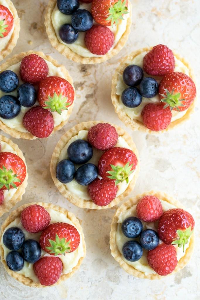lemon and white chocolate fruit tarts-7