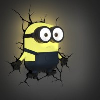 Minions 3D Decal Wall Light