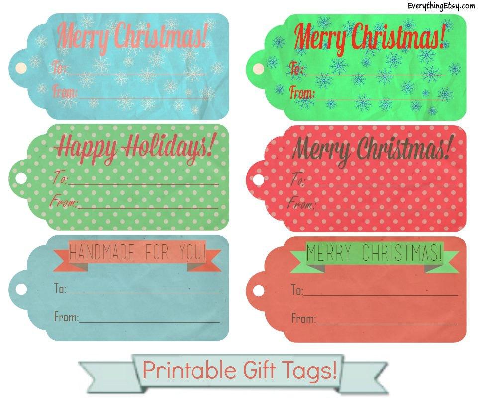 Printable Christmas Gift Tags for You! - EverythingEtsy