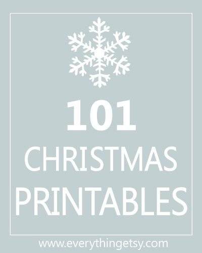 12 Christmas Card Printables {free downloads} - EverythingEtsy