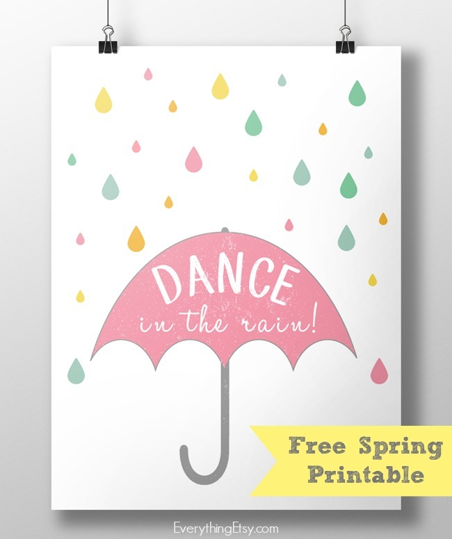 Dance in the Rain! {Free Spring Printable} - EverythingEtsy