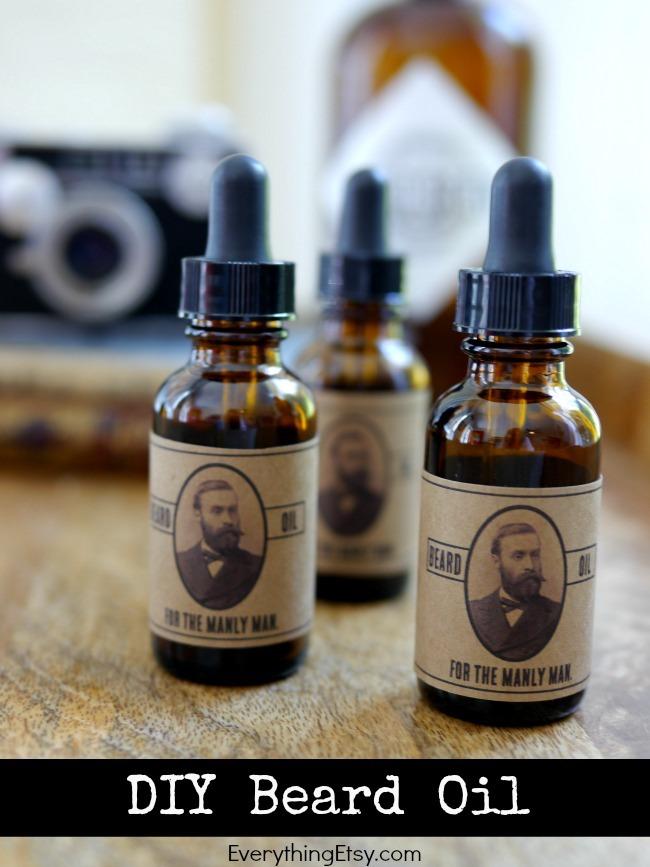 DIY Beard Oil {Gifts for Him}\u2013Free Printable Label - EverythingEtsy
