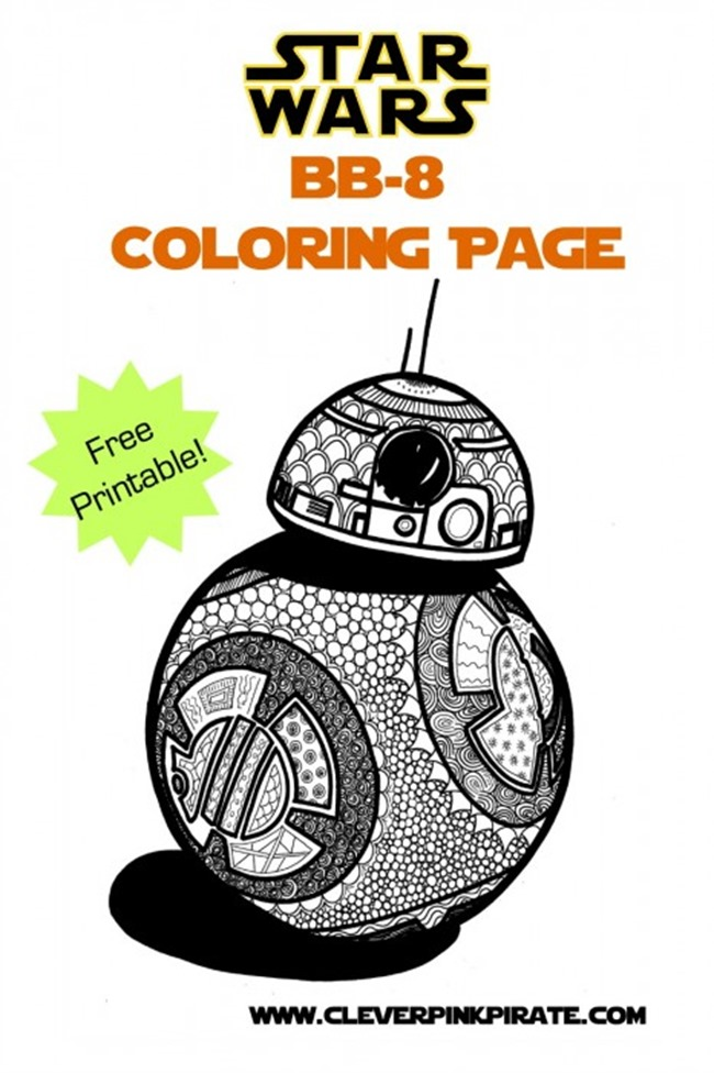 Star Wars Free Printable Coloring Pages for Adults  Kids {Over 100