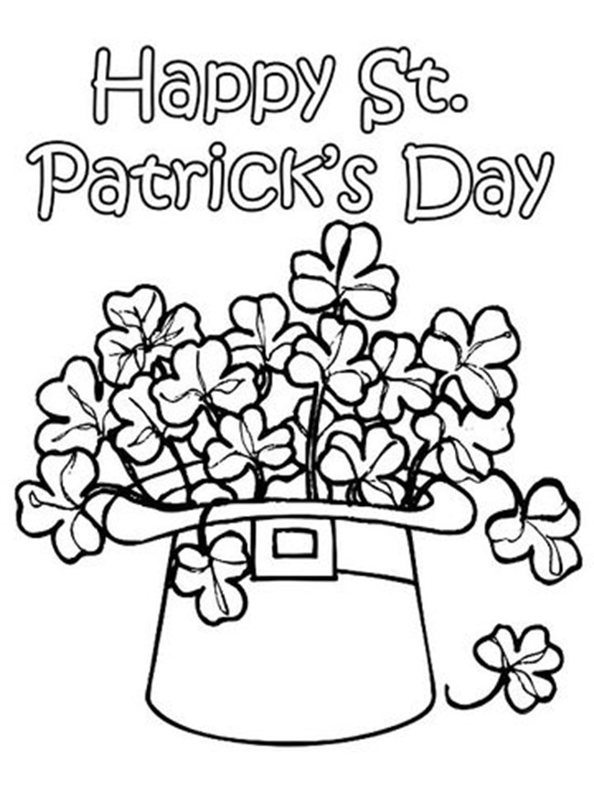 12 St Patrick\u0027s Day Printable Coloring Pages for Adults  Kids