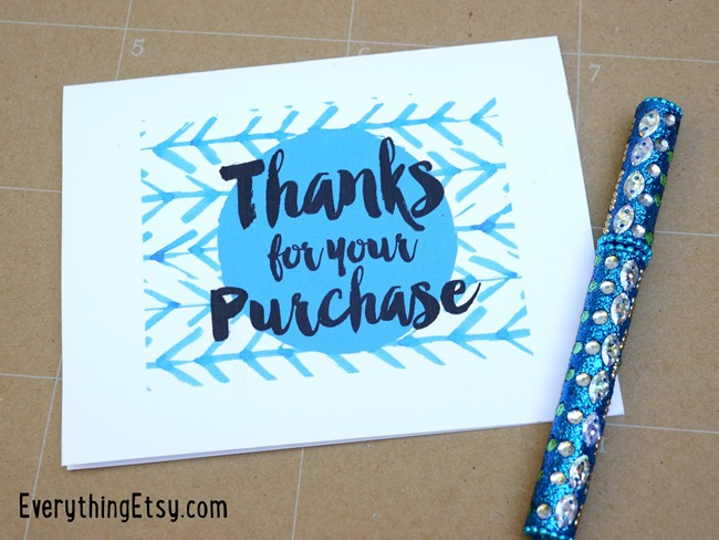 Free Printable Thank You Cards {Etsy Business} - EverythingEtsy