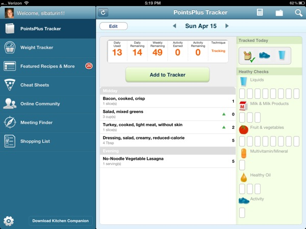 Weight Watchers Mobile App Review for iPhone and iPad