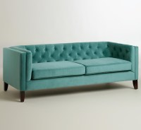 Teal Kendall Velvet Sofa | Everything Turquoise