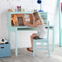 Guidecraft Teal Media Desk & Chair Set | Everything Turquoise