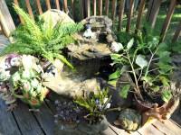 Patio Pond Backyard Waterfall Kits & Garden Water Fountains
