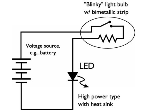 easy highpower led blinking circuit evil mad scientist laboratories