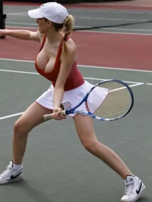 jordan carver playing tennis 3 tig ol bitties cool stuff the best 101  646 Pictures of Ladies with Major Big Boobage