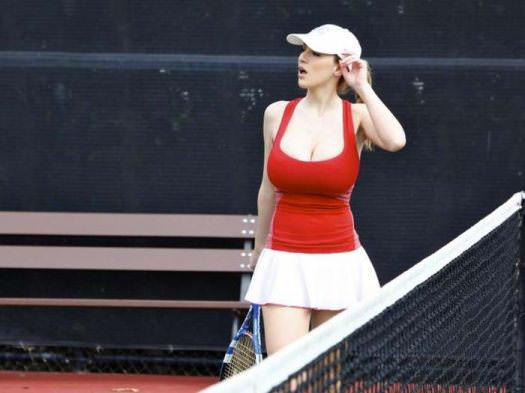 jordan carver playing tennis 6 tig ol bitties cool stuff the best 101  646 Pictures of Ladies with Major Big Boobage