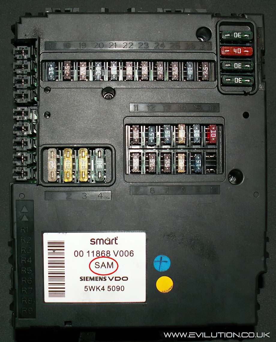 2009 smart car fuse box