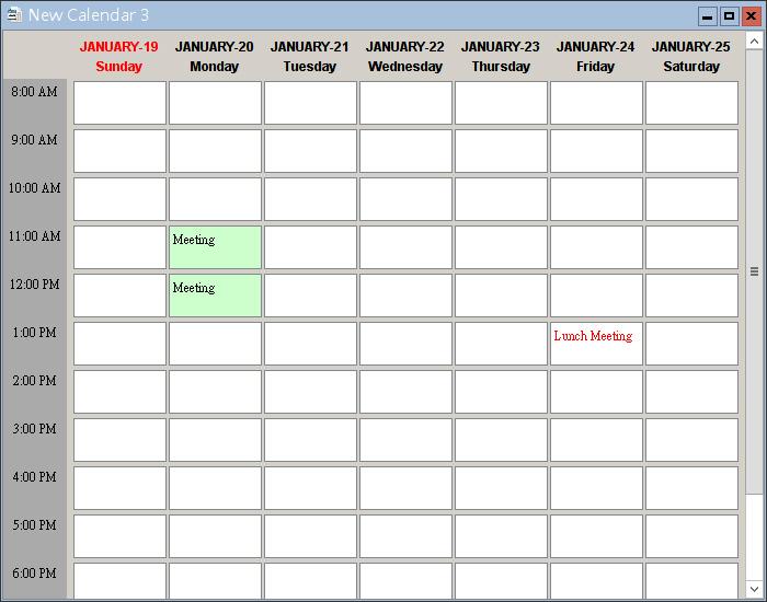 generate calendar