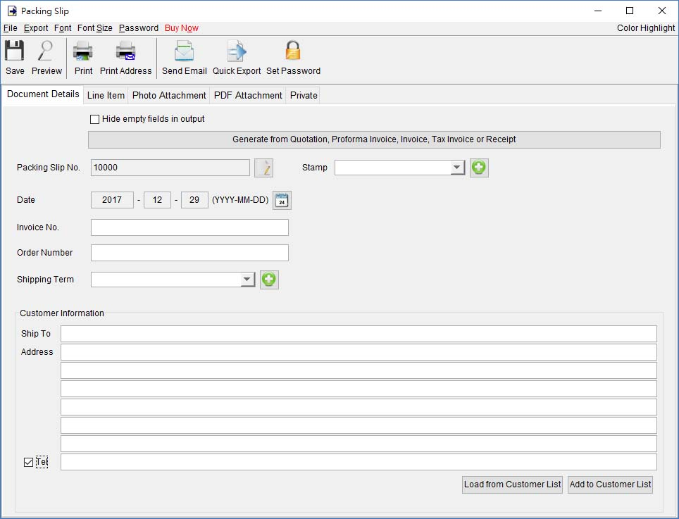 Packing Slip EasyBilling Invoicing Software User Guide - packing slip