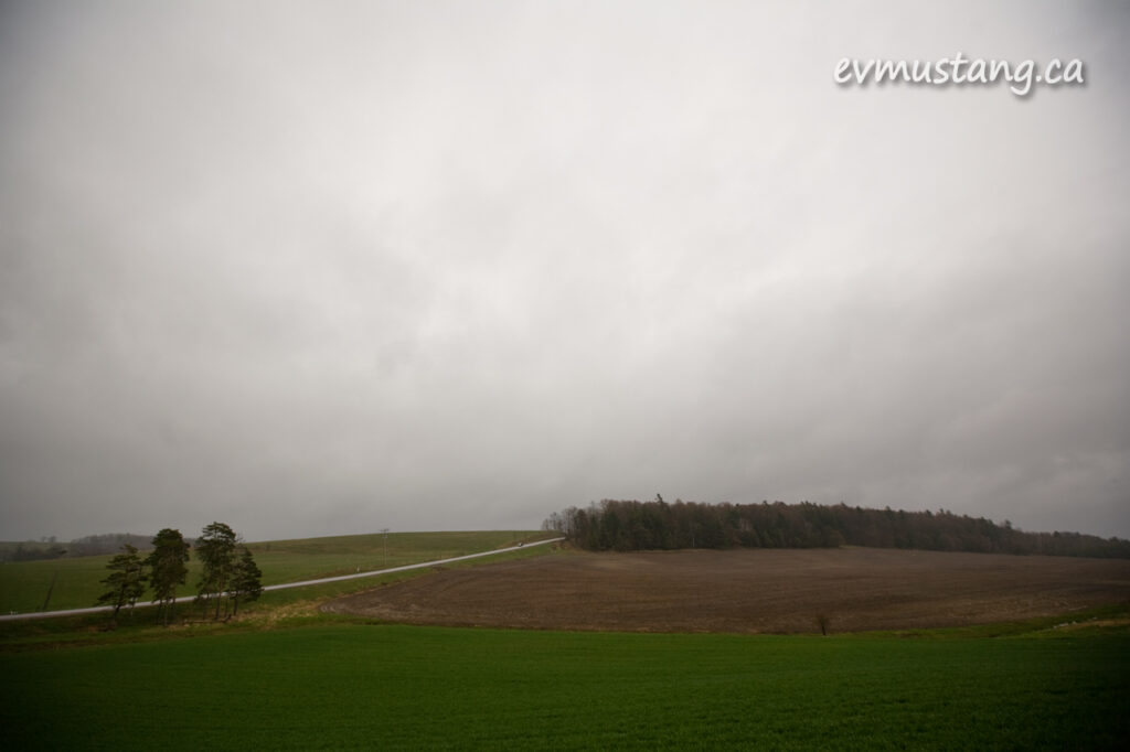image of soft rain on farm fields