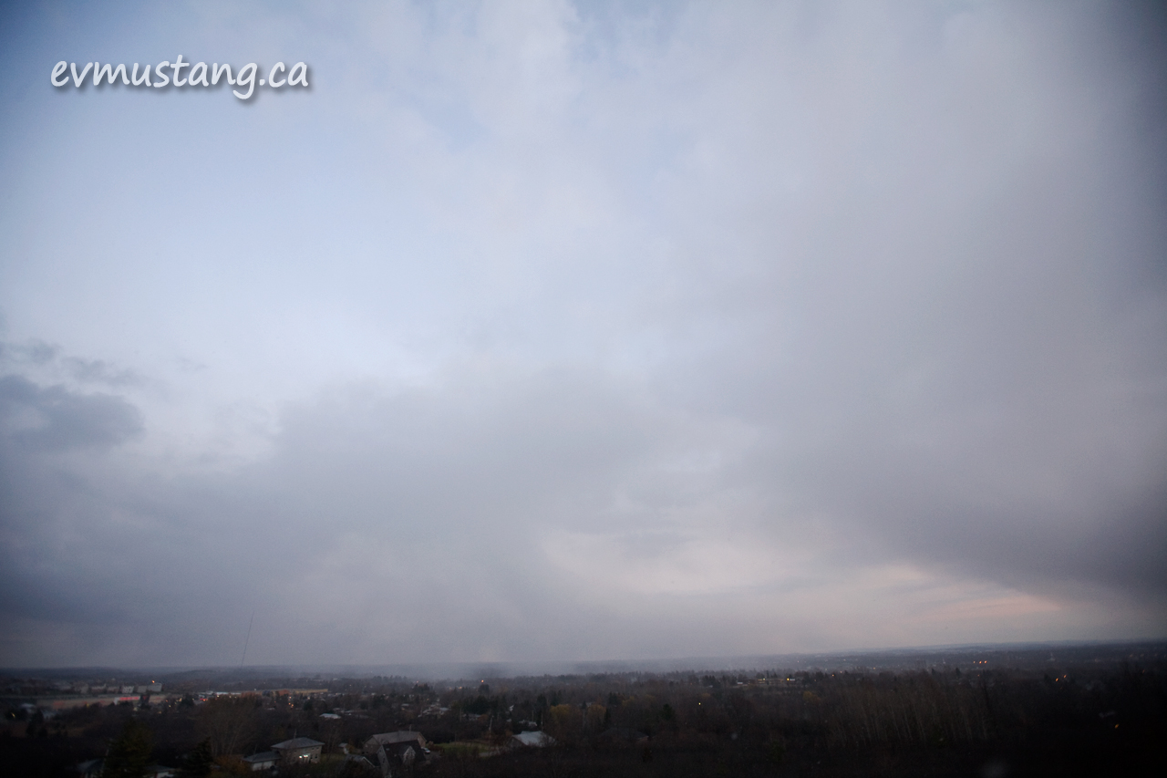 image of snow clouds blanketing Peterborough City