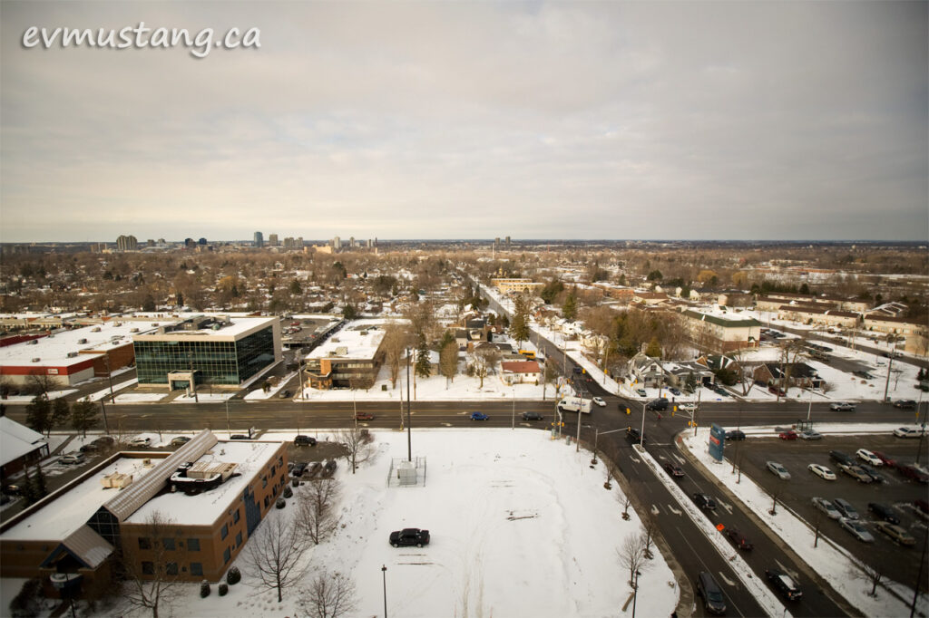image of london, ontario from the 9th floor of the new victoria hospital