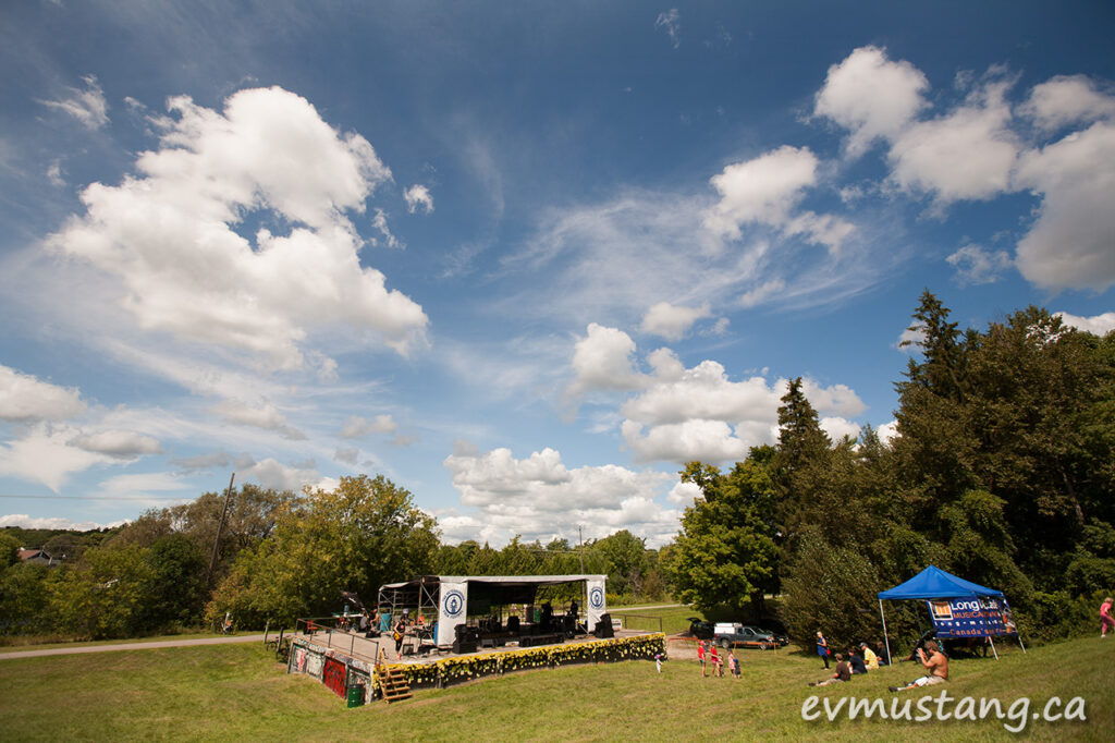 image of the peterborough folk festival stage on sunday afternoon in 2015