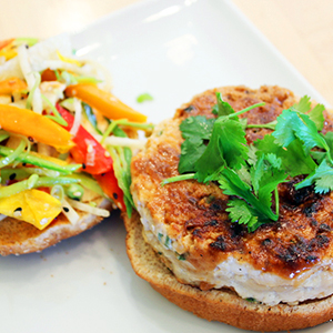 Evo Recipe Chinese Chicken Burgers