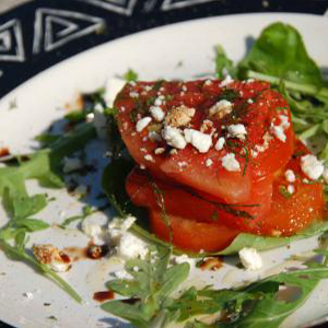 Evo Recipe Grilled Watermelon and Tomato Salad