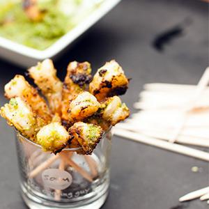 Evo Recipe Grilled Pesto Shrimp