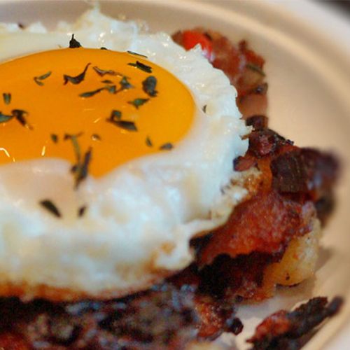 Evo Recipe - Roast Beef Hash & Eggs