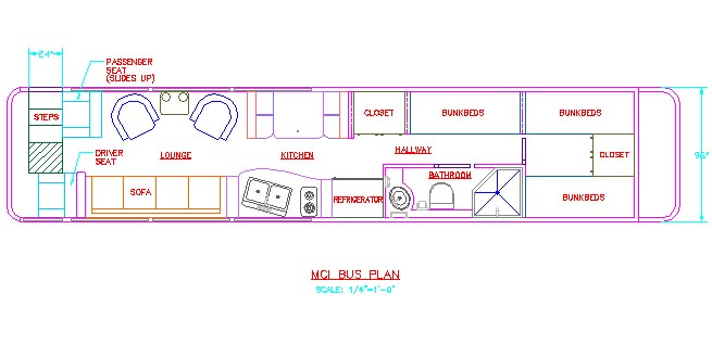 Not a bad layout Add a Pantry next to sink Bus Livin - copy construction blueprint school