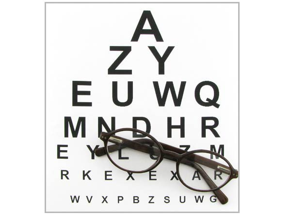 Eye Chart - reading glasses, sunglasses, prescription glasses - eye chart template