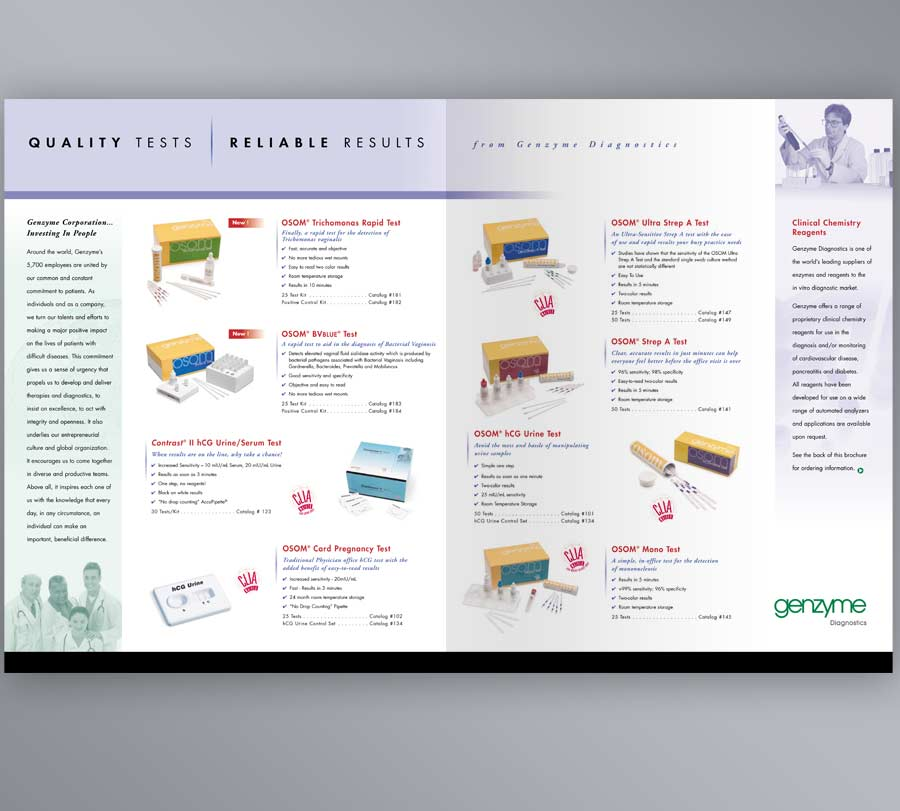 Brochure Design for Medical Products Company Evolution Design