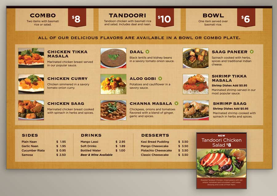 indian restaurant menu design - Funfpandroid