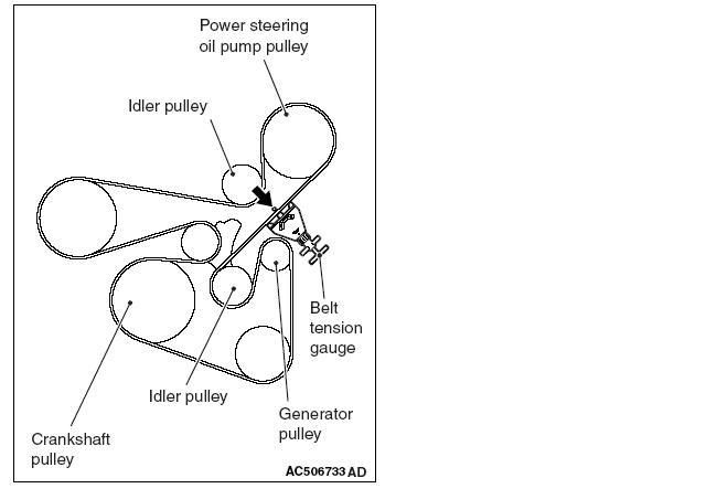 2012 mitsubishi lancer serpentine belt diagram