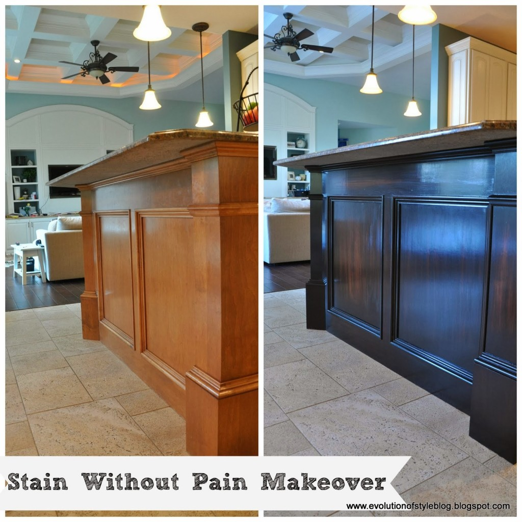 how to stain without pain breakfast bar gel stain kitchen cabinets Java Gel Stain